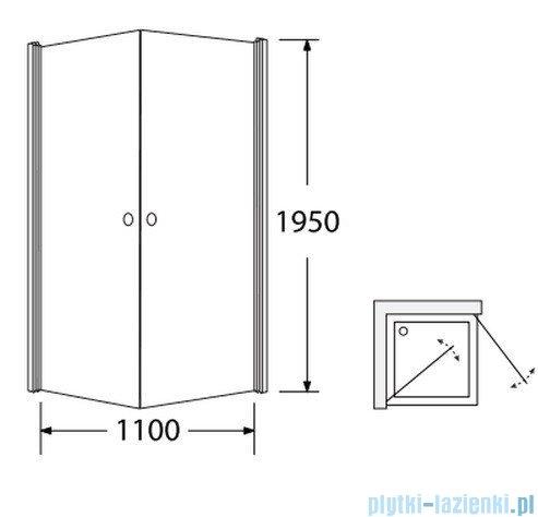 Sea Horse Fresh Line kabina natryskowa narożna, kwadratowa, 90x90x195cm lustro/przejrzyste BK122PLLT