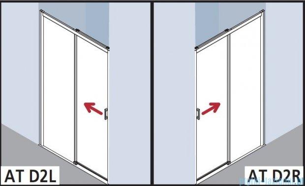 Kermi Atea Drzwi przesuwne bez progu, lewe, szkło przezroczyste, profile srebrne 150x200 ATD2L15020VAK