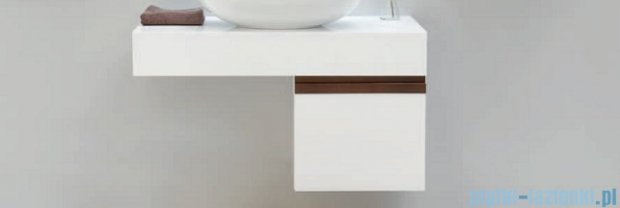 Antado Combi szafka lewa z blatem prawym i umywalką Bali biały/ciemne drewno ALT-141/45-L-WS/dp+ALT-B/2R-1000x450x150-WS+UCS-TC-65