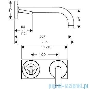 Hansgrohe Axor Uno² Jednouchwytowa bateria umywalkowa z płytką 38115000
