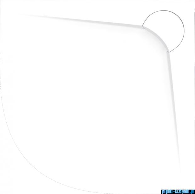 Vayer Bumerang 100x100cm Brodzik półokrągły z konglomeratu marmurowego