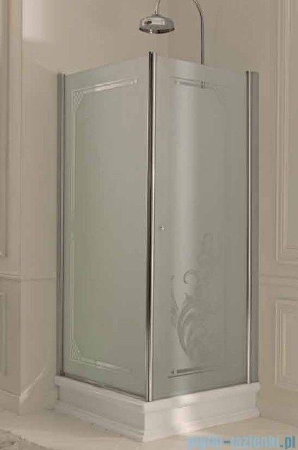 Kerasan Kabina prostokątna lewa, szkło przejrzyste profile chrom 80x96 Retro 9143T0