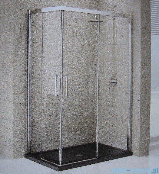 Novellini ElysiumŚcianka prysznicowa KUADRA A 84 prawa szkło przejrzyste profil chrom KUADA84LD-1K