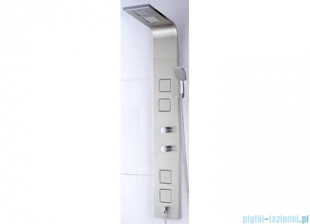 Panel prysznicowy z termostatem Actima Omega Quatro stal szlachetna ARAC.ML812
