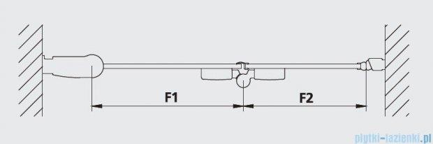 Kermi Diga Drzwi wahadłowo-składane do ściany bocznej, lewe, szkło przezroczyste, profile srebrne 110x200 DI2SL11020VAK