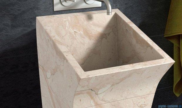 Bathco Lungo Square umywalka stojąca kamienna 41x48x100 beige 00358