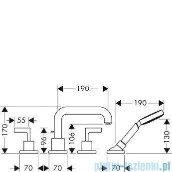 Hansgrohe Axor Citterio Element zewnętrzny do baterii 4-otworowej 39446000