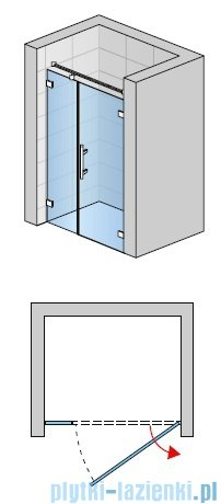 SanSwiss PUR PU31 Drzwi prawe wymiary specjalne do 160cm Master Carre PU31DSM21030
