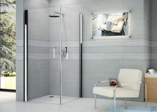 Novellini Ścianka prysznicowa GIADA 2G 81 cm prawa szkło przejrzyste profil srebrny GIADN2G81LD-1B