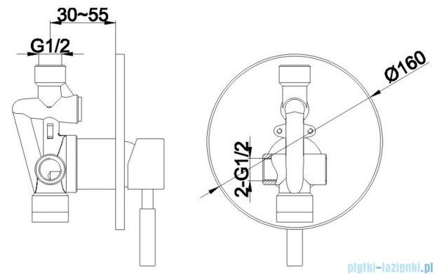 Kohlman Roxin zestaw prysznicowy chrom QW220RR40