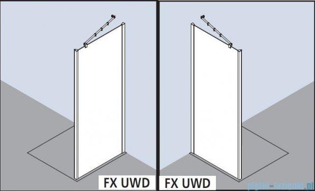 Kermi Filia Xp Ściana boczna, szkło przezroczyste, profile srebrne 75x200cm FXUWD07520VAK