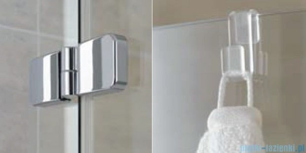 Kermi Gia XP Wejście narożne, połowa kabiny, prawa, szkło przezroczyste, profile srebrne 100x185cm GXESR10018VAK