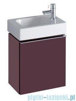 Keramag Icon Xs Szafka wisząca pod umywalkowa prawa burgund połysk 840038