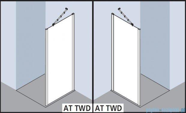 Kermi Atea Ściana boczna, szkło przezroczyste, profile białe 75x200cm ATTWD075202AK