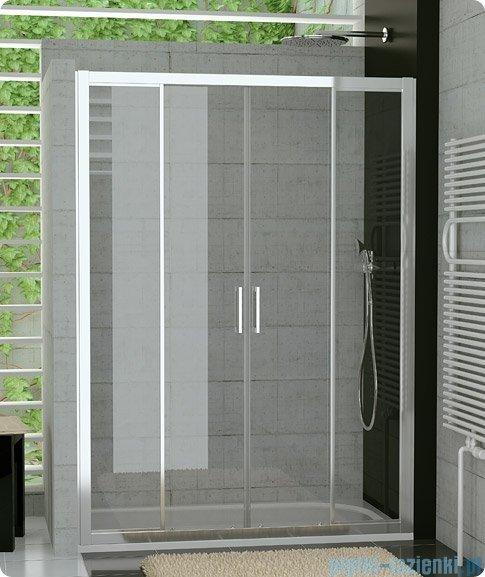 SanSwiss Top-Line TOPS4 Drzwi prysznicowe 4-częściowe 120cm profil połysk TOPS412005007