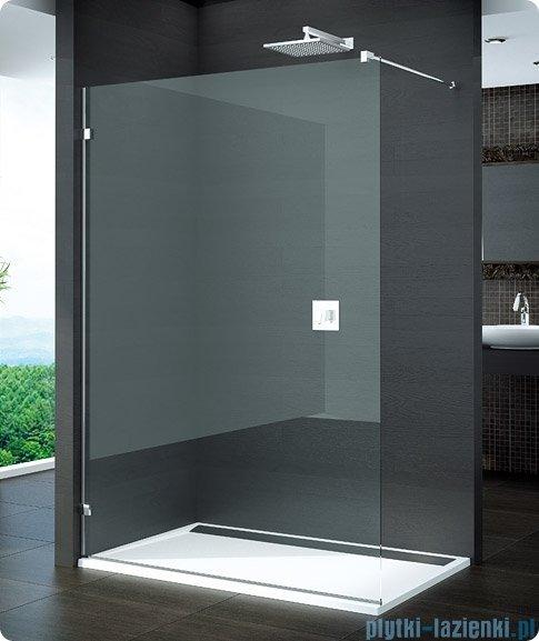 SanSwiss Pur PDT4 Ścianka wolnostojąca 30-100cm profil chrom szkło Master Carre Lewa PDT4GSM11030