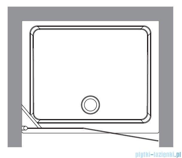 Kerasan Drzwi prysznicowe prawe, szkło dekoracyjne piaskowane profile chrom 92x180 Retro 9139P0