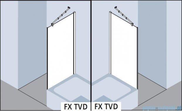 Kermi Filia Xp Ściana boczna skrócona obok wanny, szkło przezroczyste z KermiClean, profile srebrne 80x175cm FXTVD08017VPK