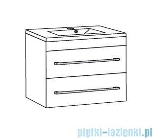 Antado Variete ceramic szafka podumywalkowa 2 szuflady 72x43x50 szary połysk FM-AT-442/75/2GT-K917