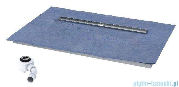 Schedpol brodzik posadzkowy podpłytkowy z odpływem Steel 140x80x5cm 10.009/OLDB/SL