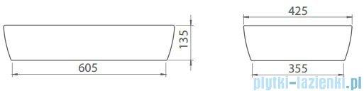 Cerastyle One umywalka 67x42,5cm nablatowa 076500-u