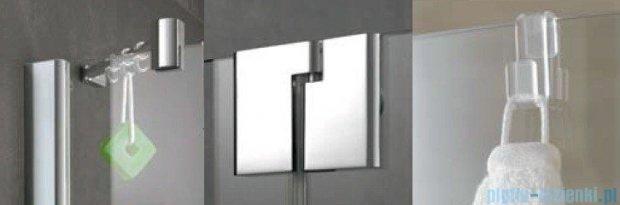 Kermi Pasa XP Parawan nawannowy z pole stałym, lewy, szkło przezroczyste, profil srebro mat 90x150 PXDTL090151AK