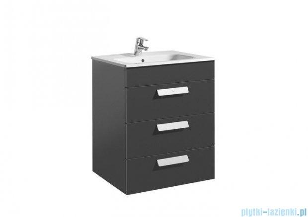 Roca Debba Unik 60 zestaw łazienkowy z 3 szufladami szary antracyt A855972153
