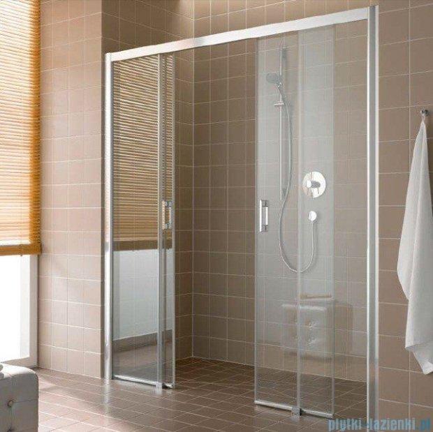 Kermi Atea Drzwi przesuwne bez progu, 4-częściowe, szkło przezroczyste z KermiClean, profile srebrne 130x200 ATD4B13020VPK