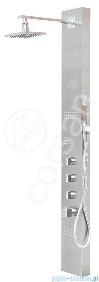 Corsan Neo Led Panel natryskowy z termostatem stal szczotkowana S-060TLED