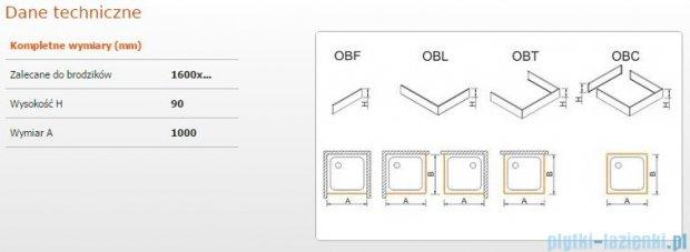 Sanplast Obudowa frontowa do brodzika OBF 160x9 cm 625-400-0390-01-000