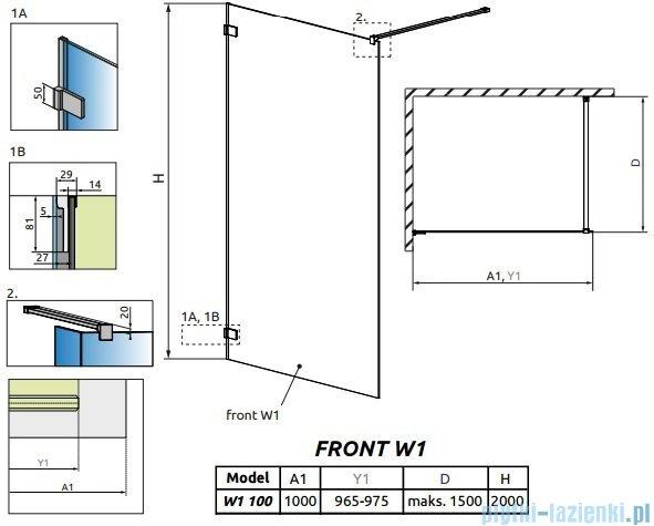 Radaway Euphoria Walk-in V kabina 100cm szkło przejrzyste 383112-01-01