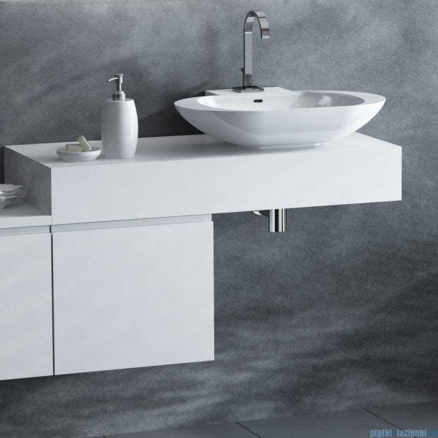 Antado Combi szafka z blatem prawym i umywalką Mia biały ALT-140/45GT-WS+ALT-B/1R-1000x450x150-WS+UCS-TC-60