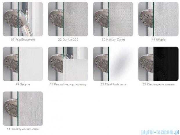 SanSwiss Pur PU4 Kabina półokrągła 75-120cm profil chrom szkło Krople PU450SM11044