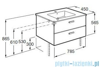 Roca Victoria Basic Zestaw łazienkowy Unik szafka z umywalką 80cm biały połysk A855852806