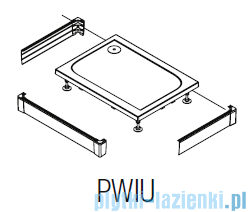 SanSwiss PWIU Obudowa do brodzika 3-stronna 90x120cm biała PWIU901209004