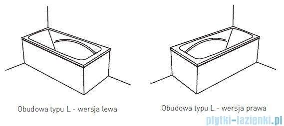 Poolspa Obudowa jednoczęściowa typu L (prawa) do Wanny PWOKG10OWL00000