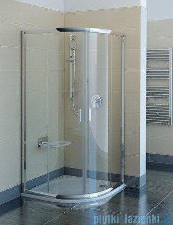 Ravak Kabina prysznicowa Blix BLCP4 półokrągła 80x80 profile satyna transparent Anticalc 3B240U00Z1