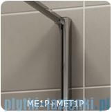 SanSwiss Melia MET1 ścianka lewa 100x200cm krople MET1PG01001044