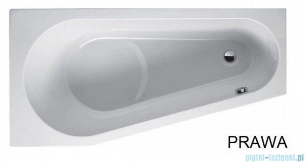 Riho Delta wanna asymetryczna 160x80 prawa + nóżki + syfon BB82/01U/AMC55