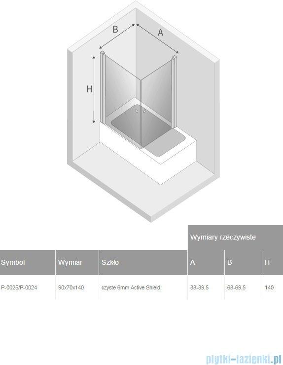 New Trendy New Soleo parawan nawannowy 2-skrzydłowy 90x70x140 cm przejrzyste P-0025/P-0024