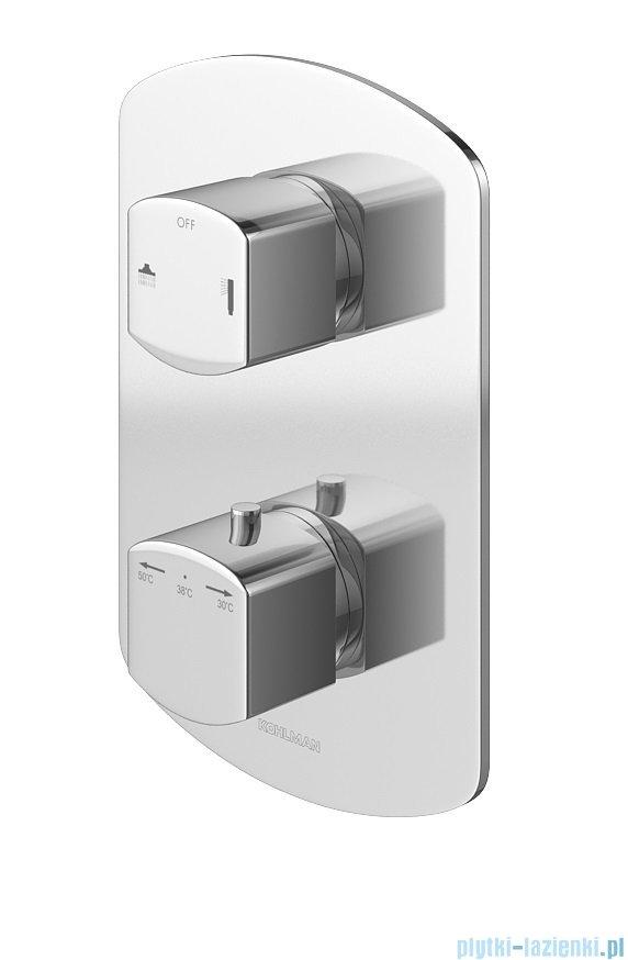 Kohlman Foxal zestaw prysznicowy z baterią termostatyczną chrom QW432FR35