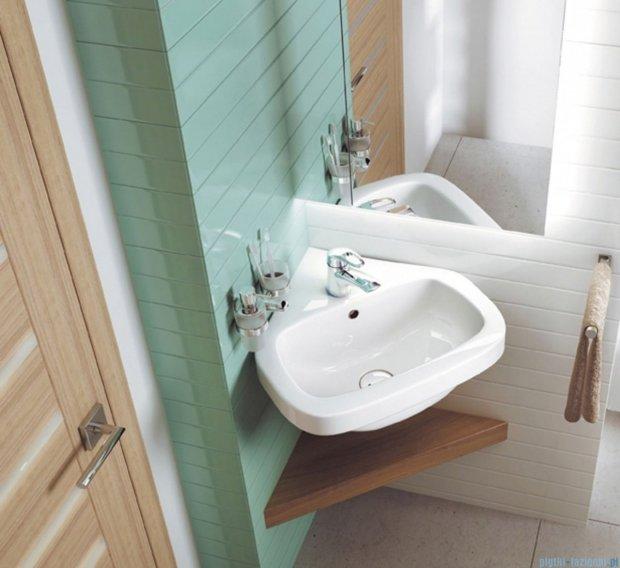 Deante Dalia umywalka ścienna narożna 46x45,5 cm biała CDA 6U4N