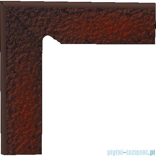 Paradyż Cloud brown duro klinkier cokół schodowy lewy 8x30