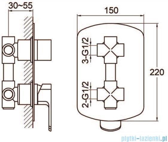 Kohlman Foxal zestaw prysznicowy chrom QW211FQ25-009