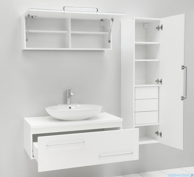 Antado Susanne szafka z umywalką Libra biała 95x46cm AS-140/95-WS+AS-B/3-140/95-WS+UCS-TC-66