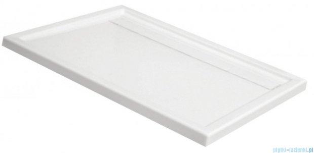 Deante Minimal brodzik prostokątny z odpływem liniowym 80x120 cm biały KTM 044B