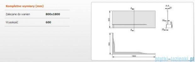 Sanplast Obudowa do wanny Free Line prawa, OWPLP/FREE 80x180 cm 620-040-0490-01-000