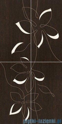 Paradyż Mogano/Travena panel kwiat dekor ścienny 65,1x130,2