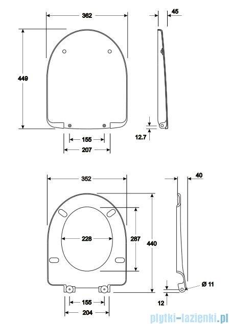 Koło Nova Pro Deska sedesowa twarda M30111