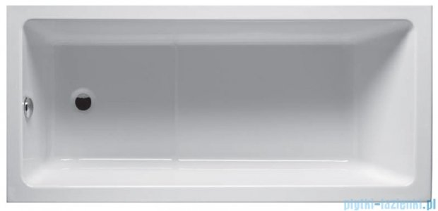 Riho Lusso Plus Wanna prostokątna 170x80 BA12 + nogi + syfon BA12/01U/AMC55